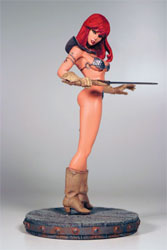 Red Sonja statue by Joseph Michael Linsner