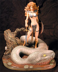 Red Sonja statue by Michael Turner