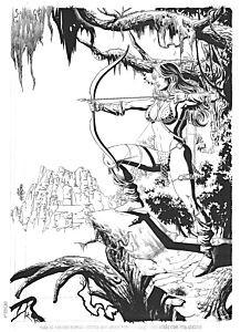 Red Sonja original art