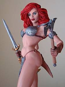 Red Sonja 1/6 scale resin model