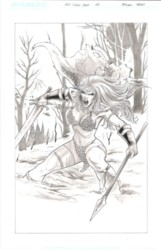 Red Sonja original art