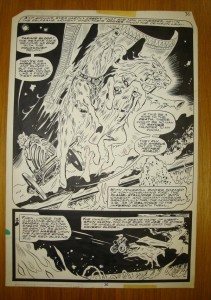 Original Red Sonja comic page by Frank Thorne