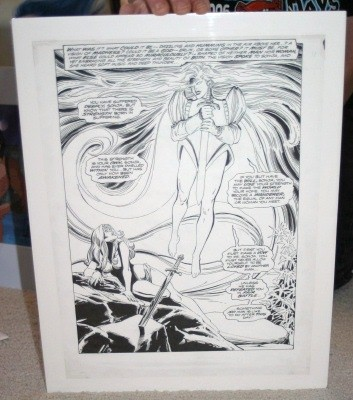 Original comic page by Dick Giordano and Terry Austin
