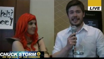 Chuck Storm interviews Red Sonja cosplayer