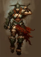 Diablo III's Female Barbarian concept art