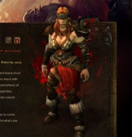 Diablo III's Female Barbarian in-game model