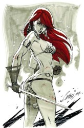 Red Sonja J. Scott Campbell Fine Art Lithograph