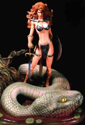 Red Sonja Michael Turner statue