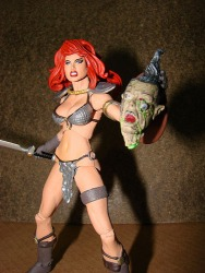 Custom Red Sonja action figure
