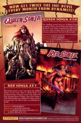 Queen Sonja #10 and Red Sonja #51 ad