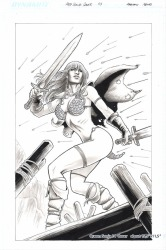 Red Sonja original art by Fabiano Neves