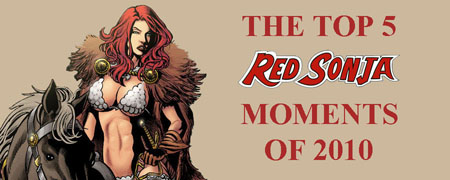 The Top 5 Red Sonja Moments of 2010