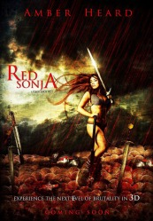 Amber Heard as Red Sonja in mock movie poster