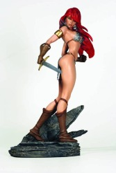 Red Sonja Statue Inspired by J. Scott Campbell