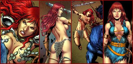 Red Sonja back in blue