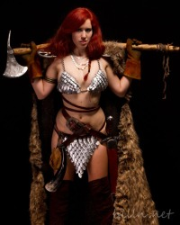 Jettie Monday as Red Sonja (Copyright Bill Nash)
