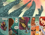 Red Sonja: Atlantis Rises #4 Page 4 & 5