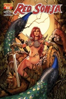 Red Sonja #1 cover by Colleen Doran