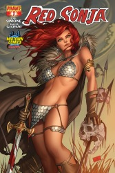 Red Sonja #1 cover by Nei Ruffino